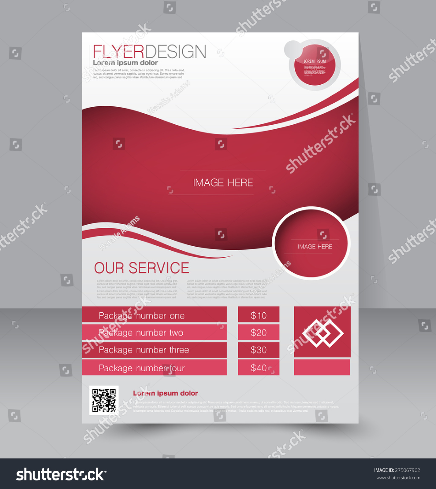 Flyer template business brochure editable a4 poster for for Editable brochure templates