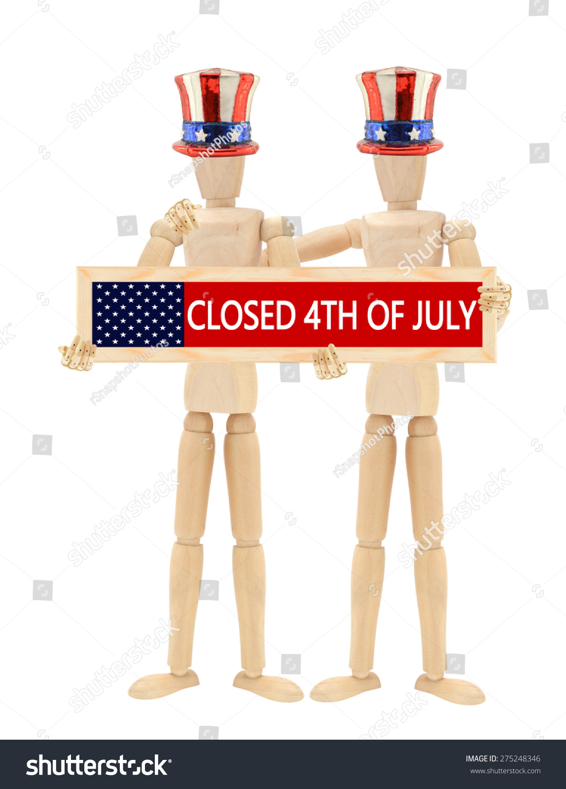 fourth of july closed sign