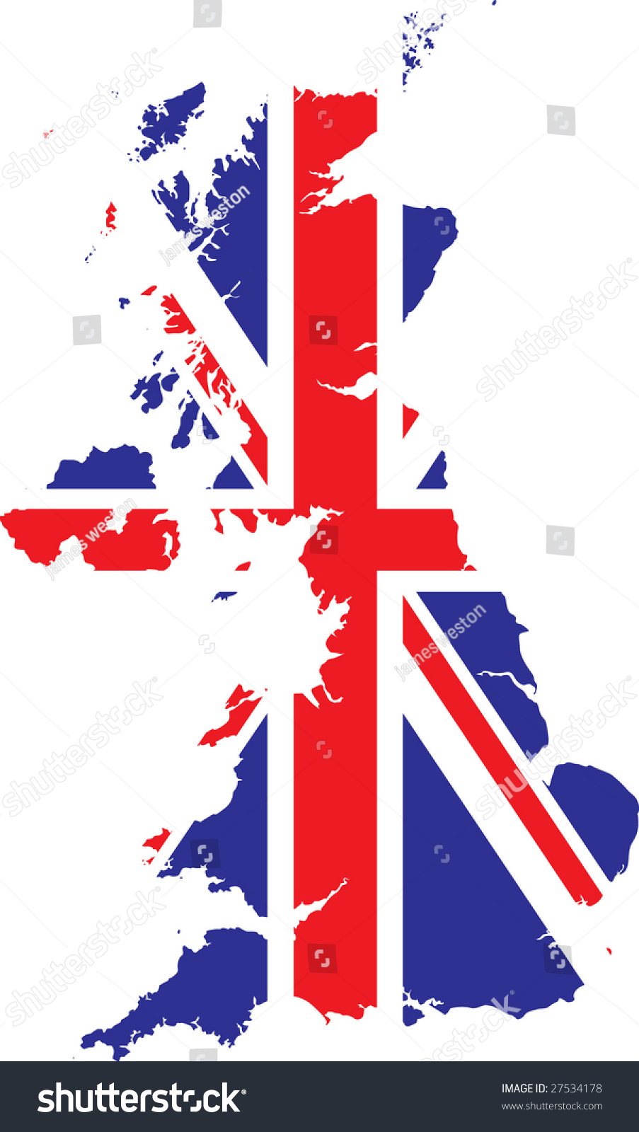 vector british flag map stock vector 27534178 shutterstock