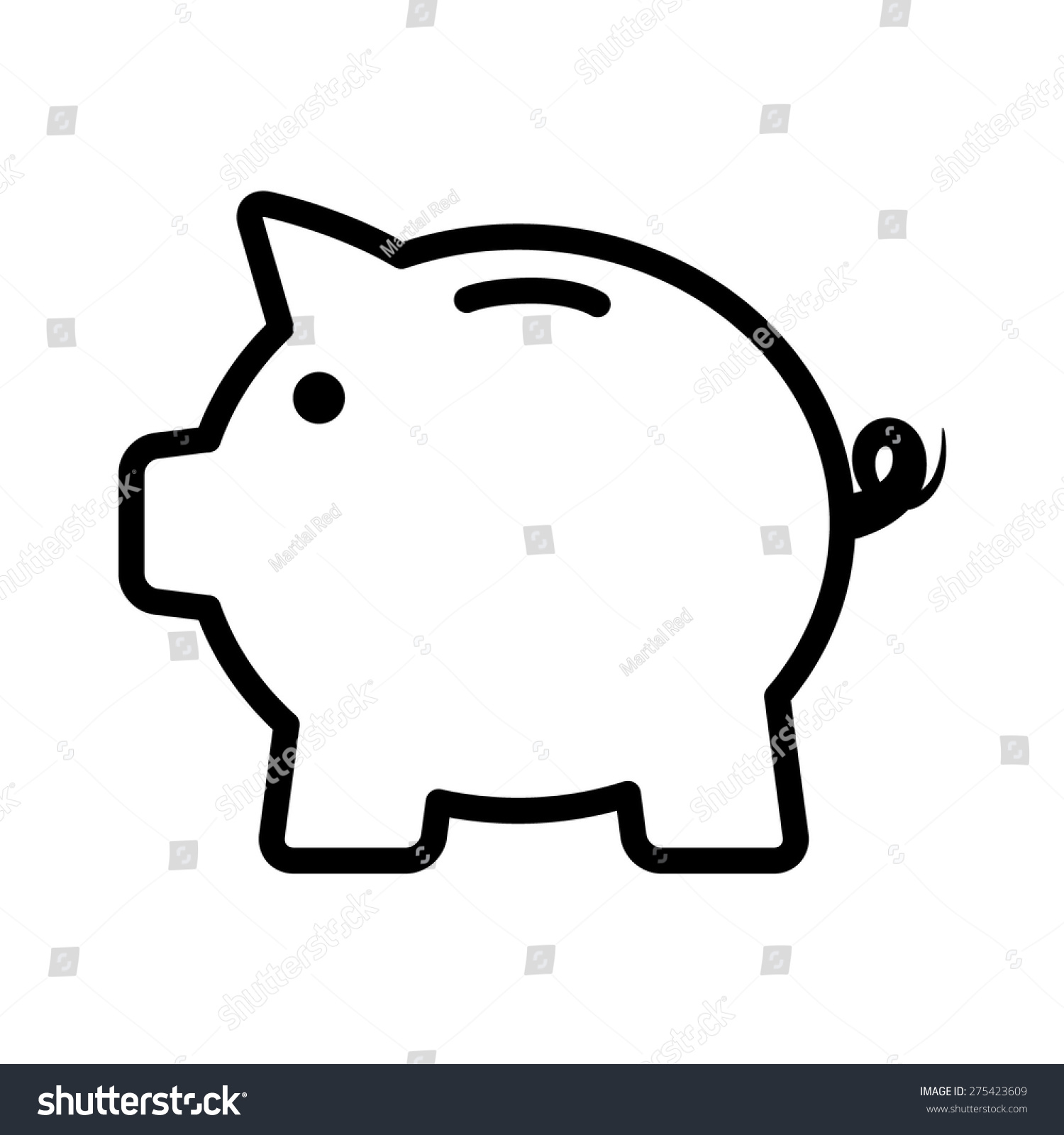 Vector Drawing Lines App : Piggy bank piggybank life savings line stock vector