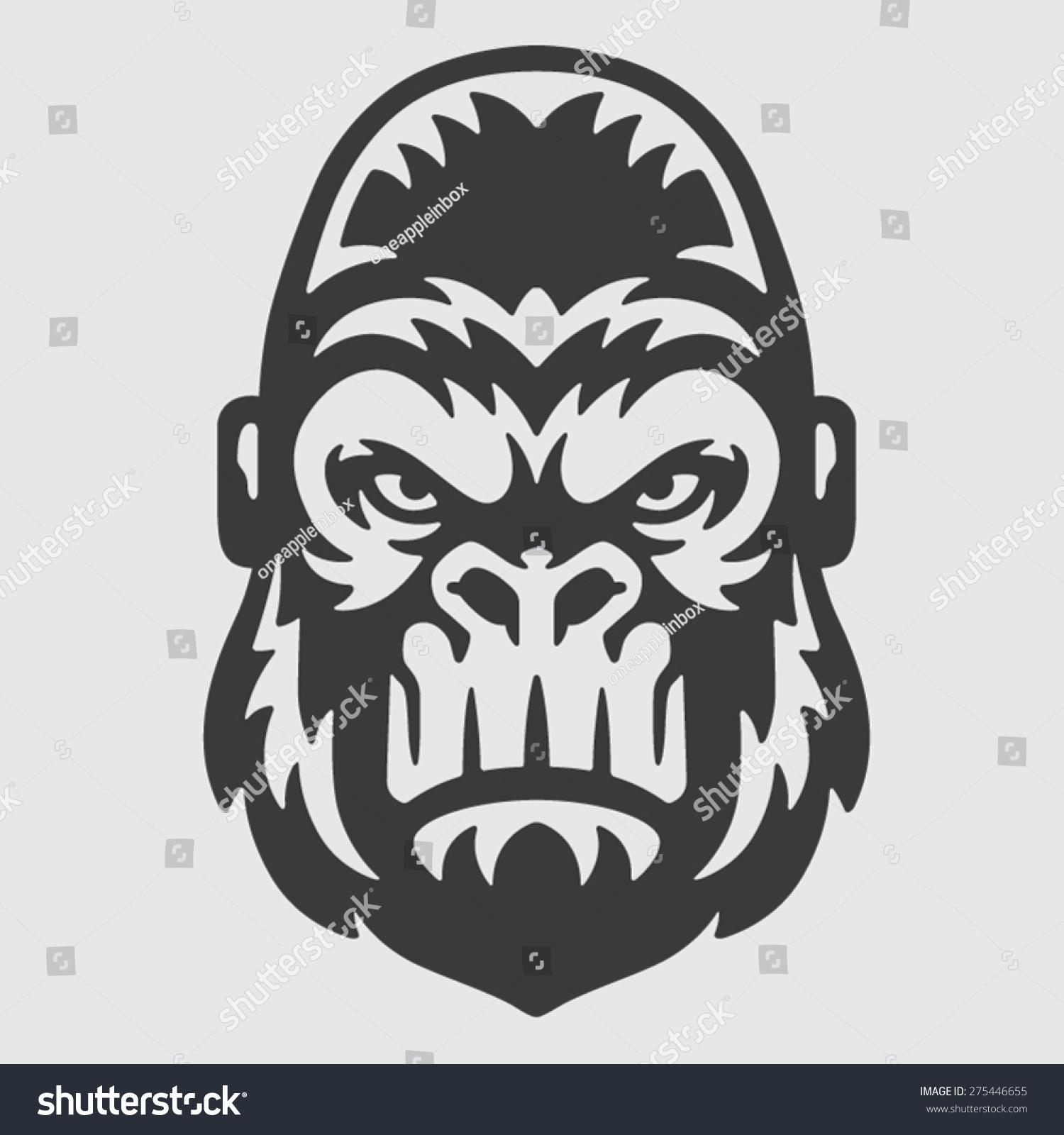 Gorilla vector head - photo#11
