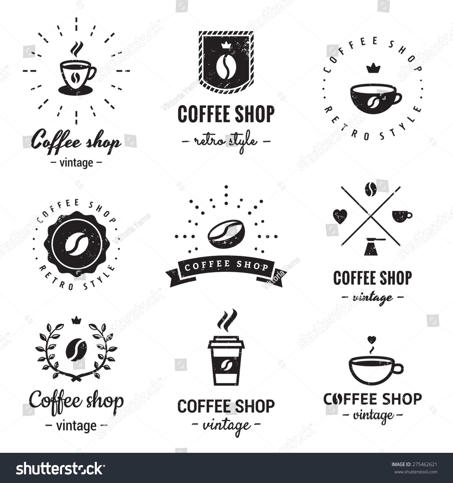 Art logo logo s coffee logo coffee shop coffee design shop logo coffee - Coffee Shop Logo Vintage Vector Set Hipster And Retro Style Perfect For Your Business