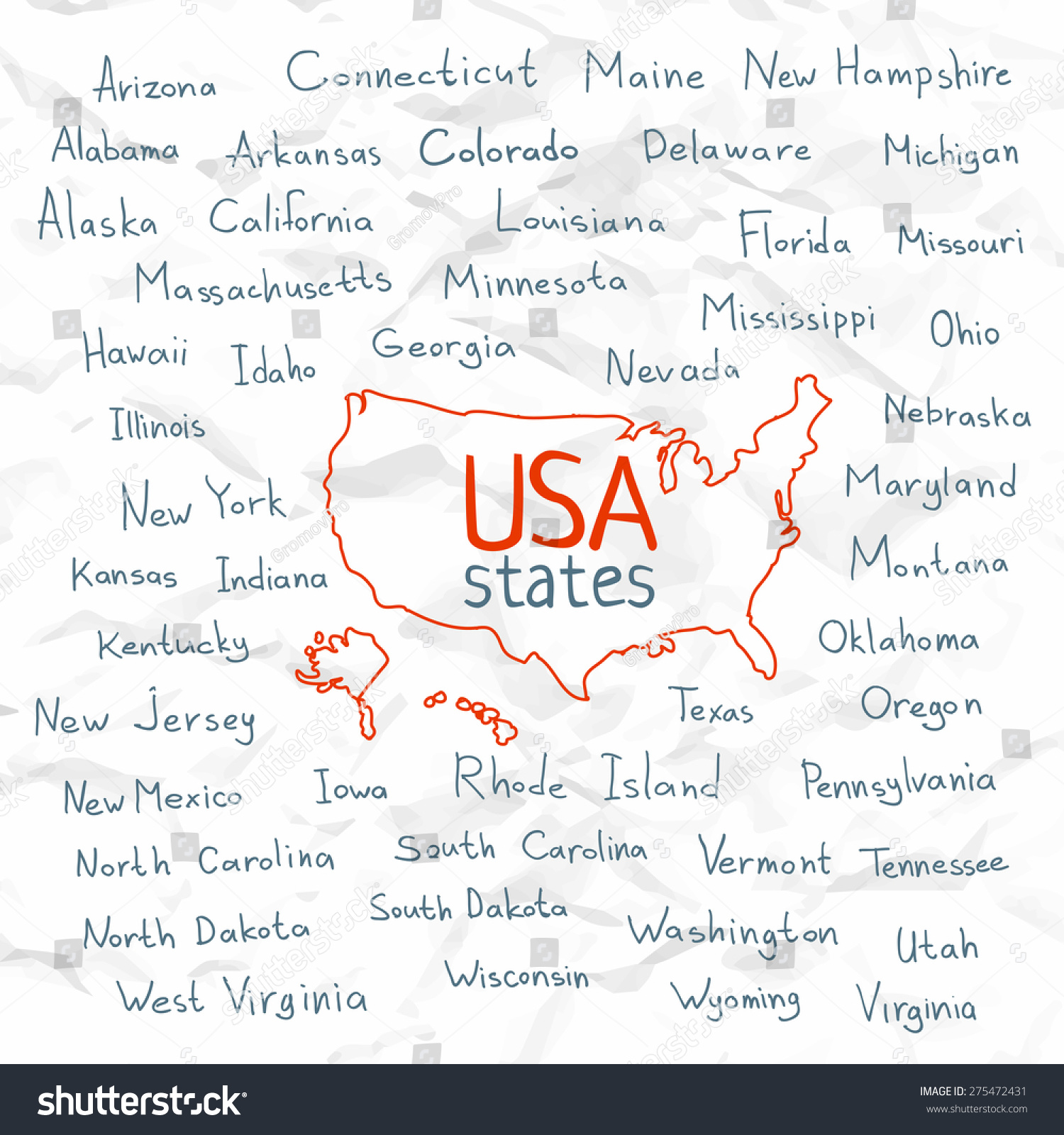 Names States Free Image - Us map with city and state names