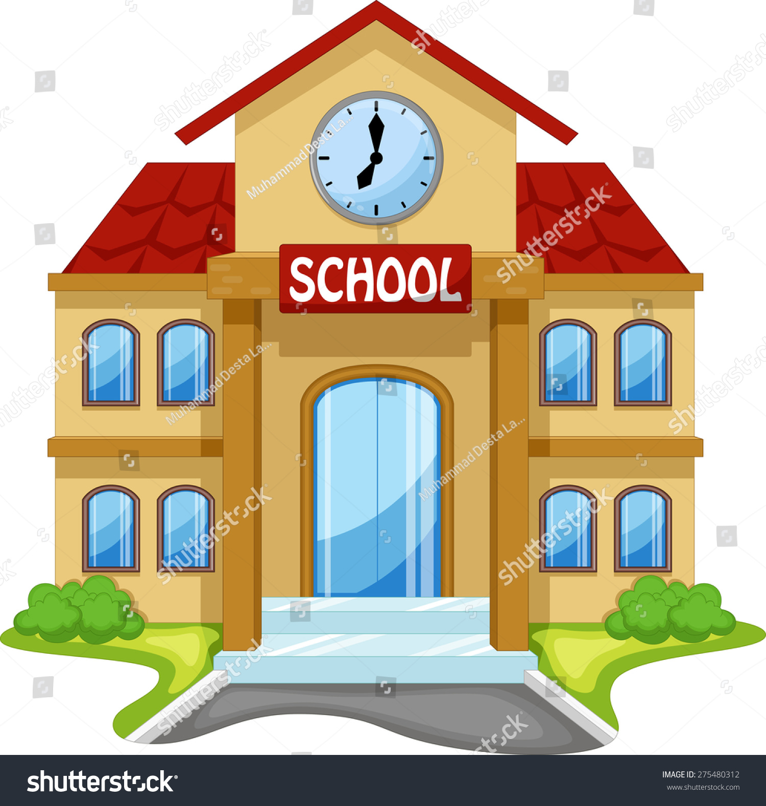 school building cartoon stock vector 275480312 shutterstock