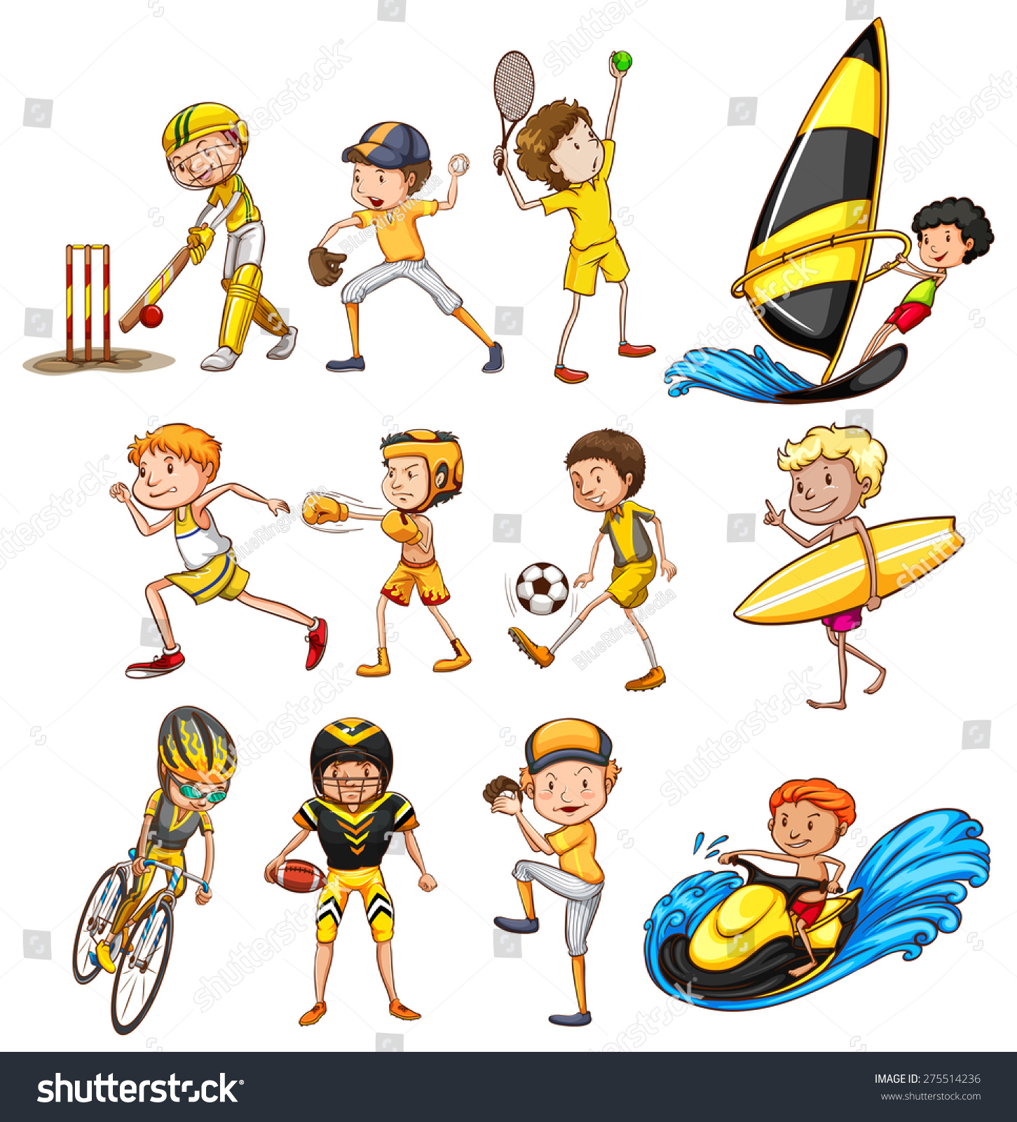 Set Different Kinds Sports Stock Vector 275514236