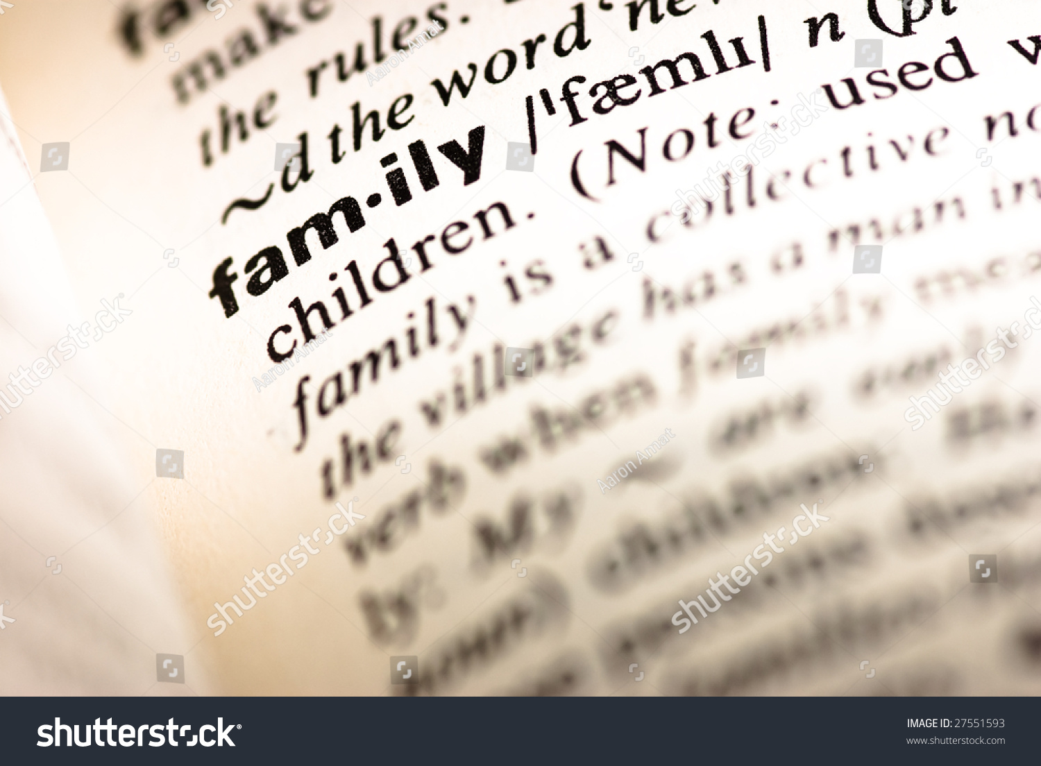 Dictionary Definition Family Stock Photo 27551593 - Shutterstock
