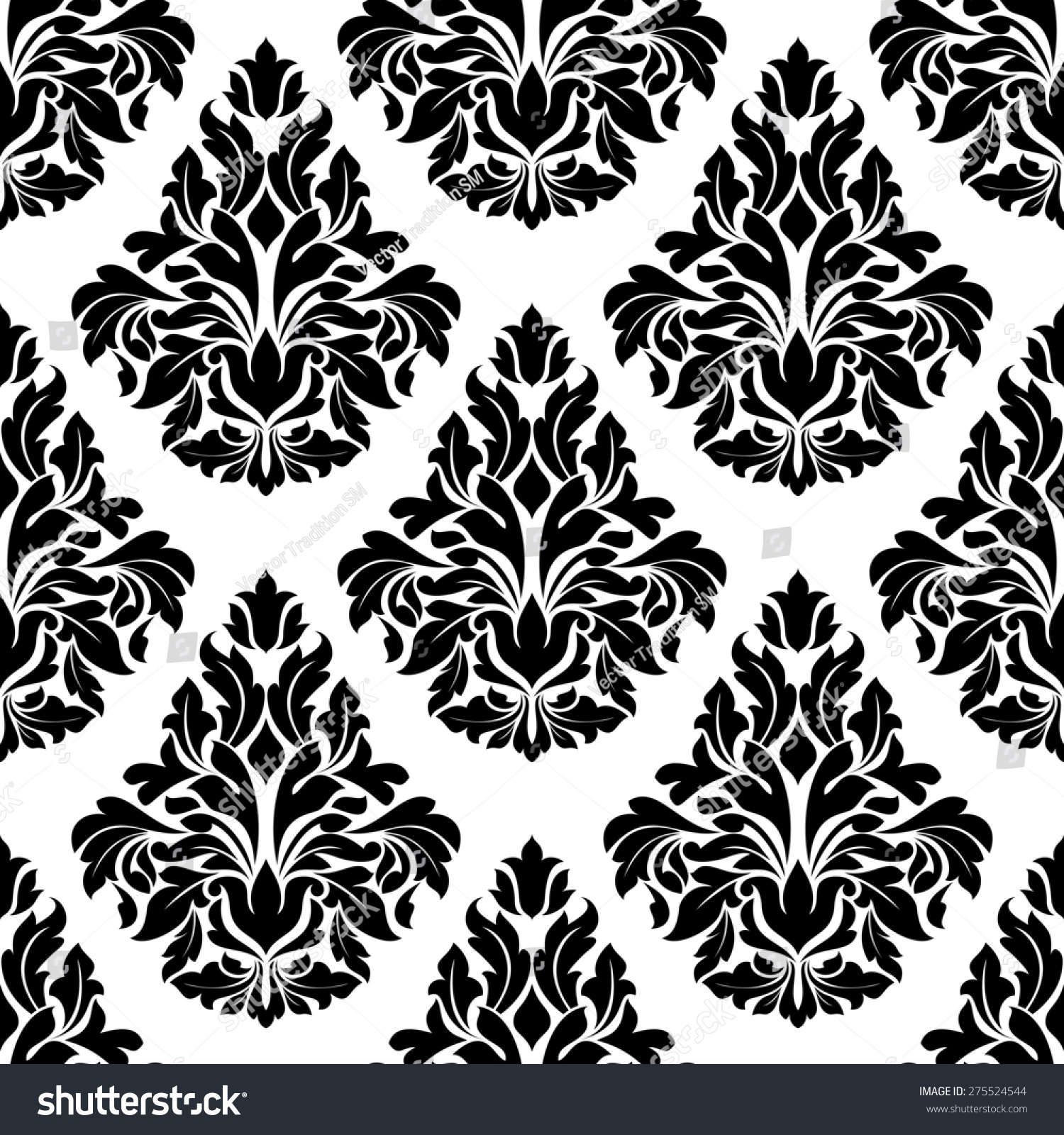 Royalty free intricate black and white arabesque for Arabesque style decoration