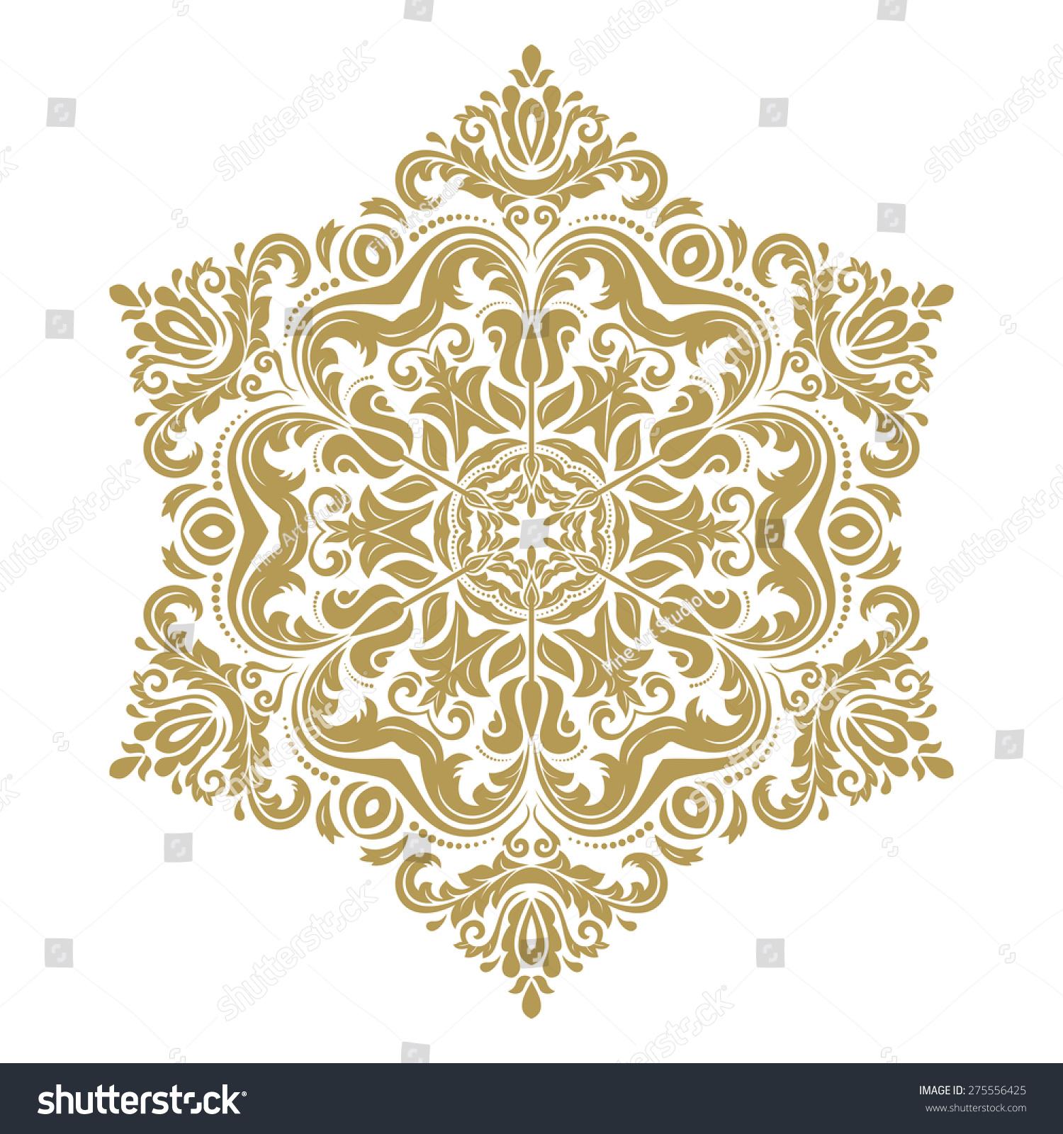 oriental vector pattern arabesque floral elements vectores en stock 275556425 shutterstock. Black Bedroom Furniture Sets. Home Design Ideas