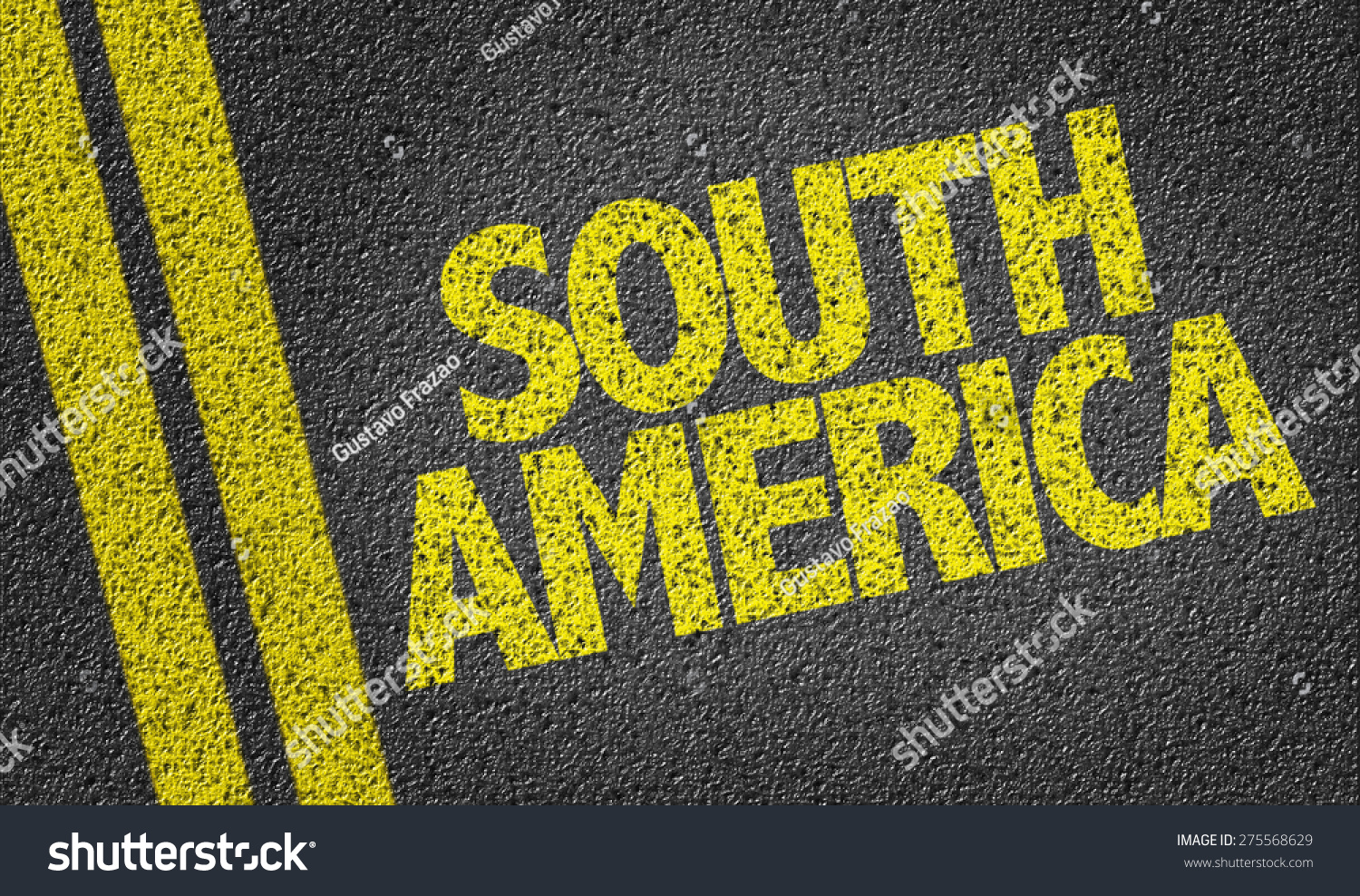 South America Written On Road | Backgrounds/Textures, Signs ...