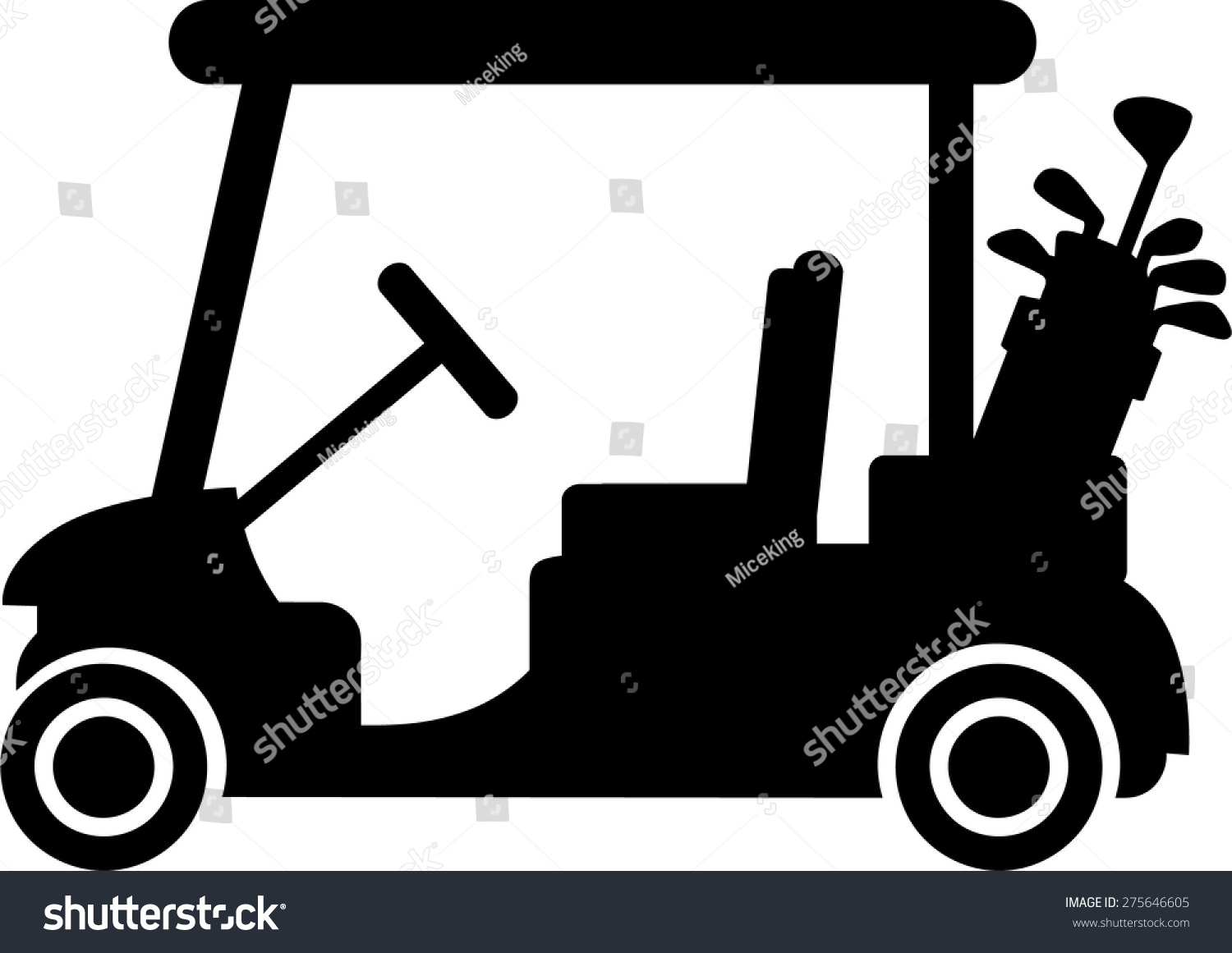golf cart size 38 kb from transportation. golf cart coral clip art ...
