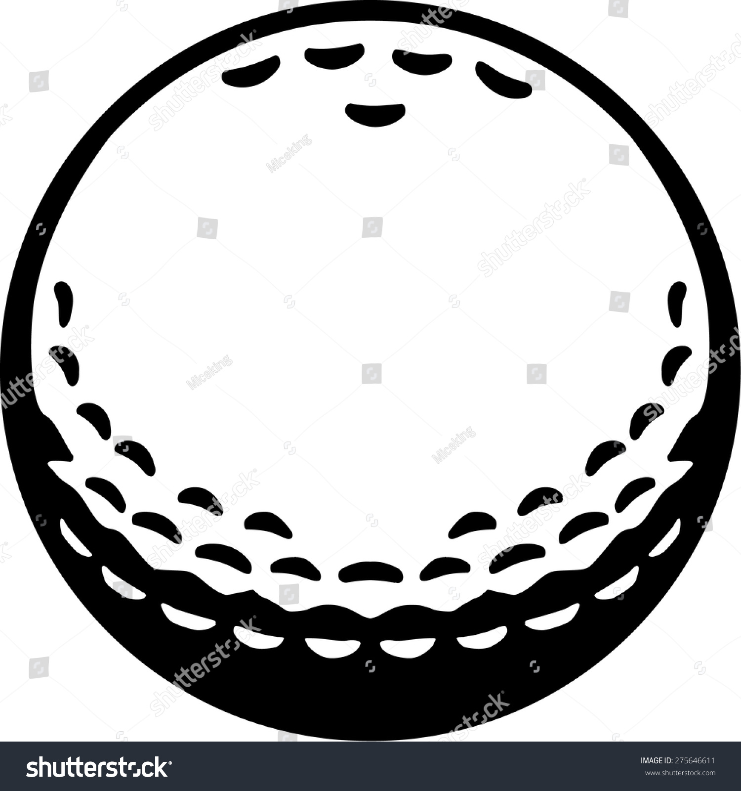 Real Golf Ball Stock Vector Illustration 275646611 ...