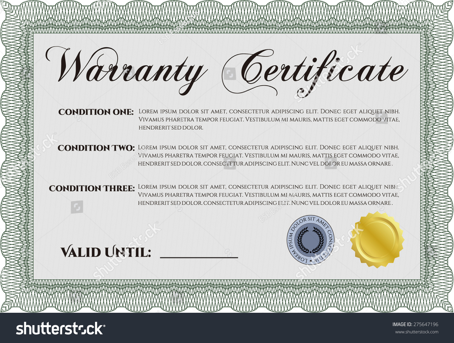 Download lifetime warranty certificate template microsoft office sample warranty certificate template sample text stock vector stock vector sample warranty certificate template with sample yelopaper Choice Image