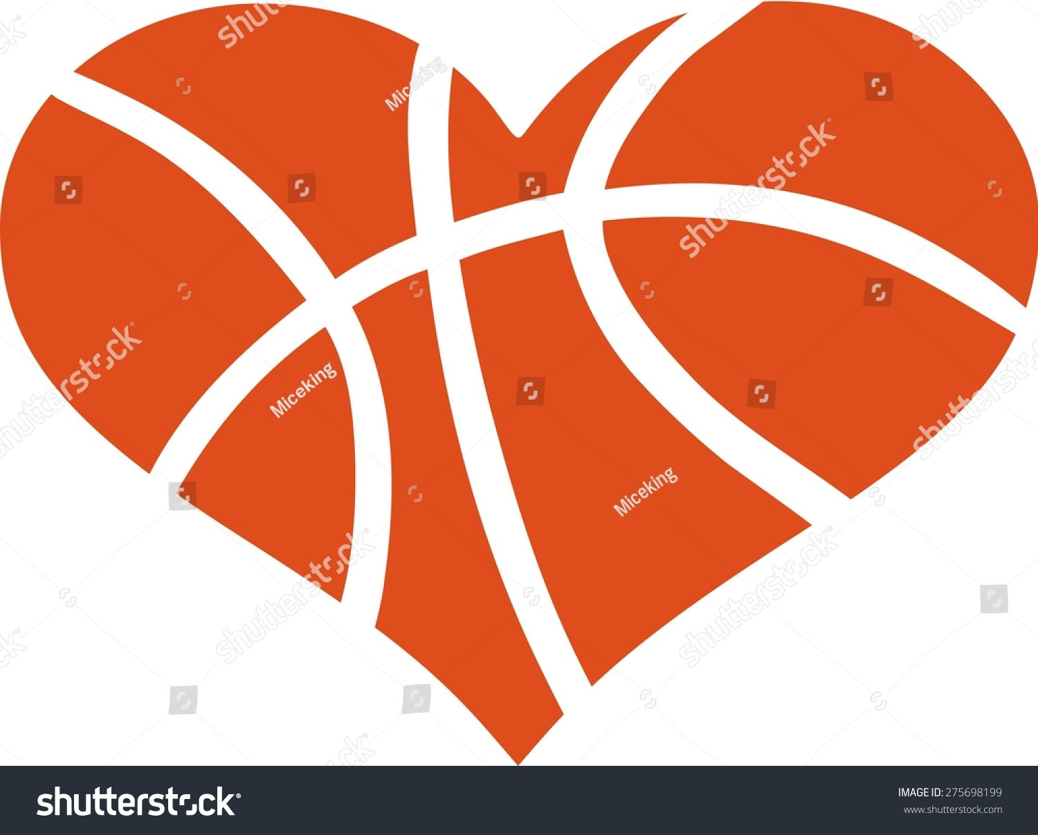 Heartbeat Pattern Heartbeat Vector Pattern Vector: Heart Basketball Pattern Stock Vector 275698199
