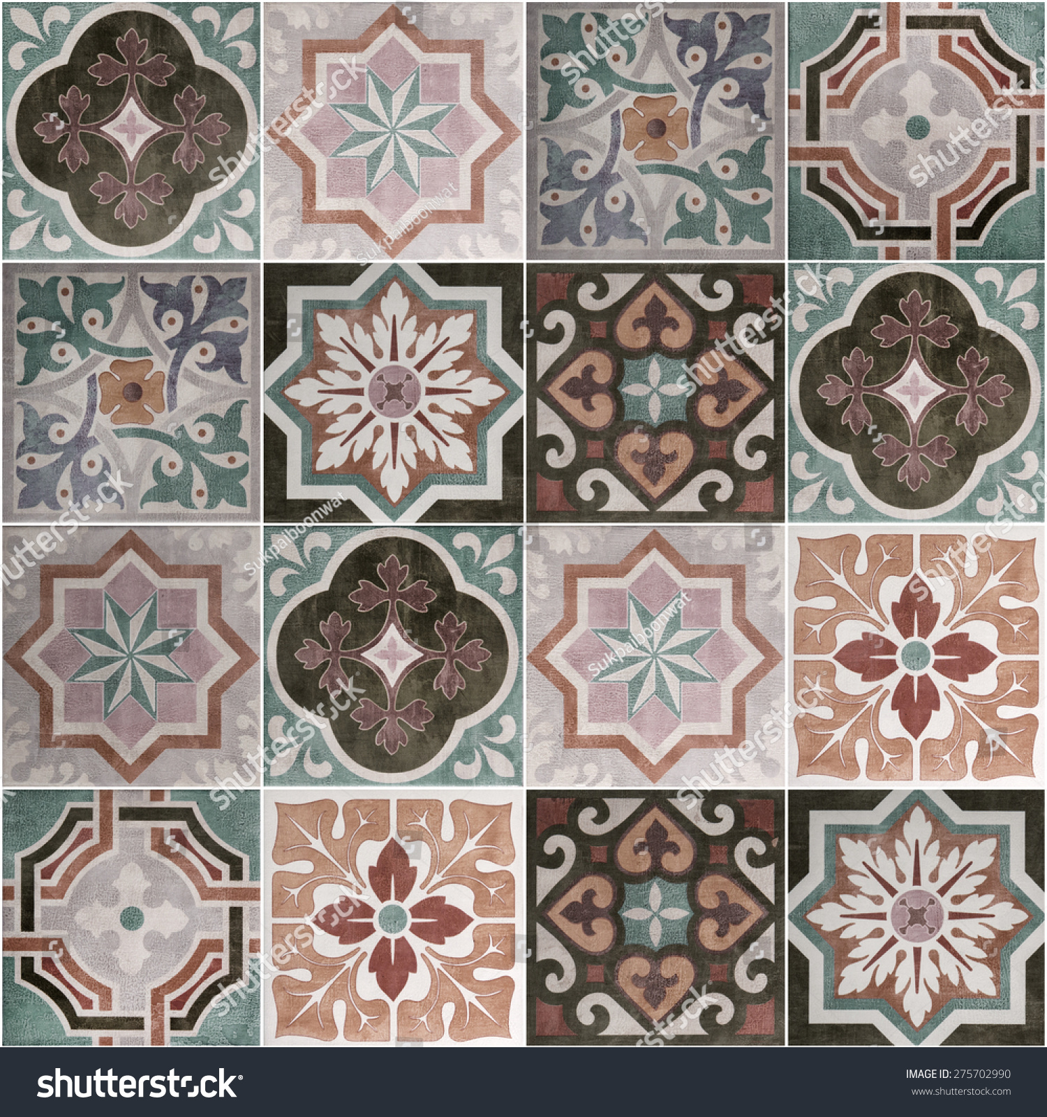 Ceramic tiles patterns from portugal stock photo for Ceramic patterns designs
