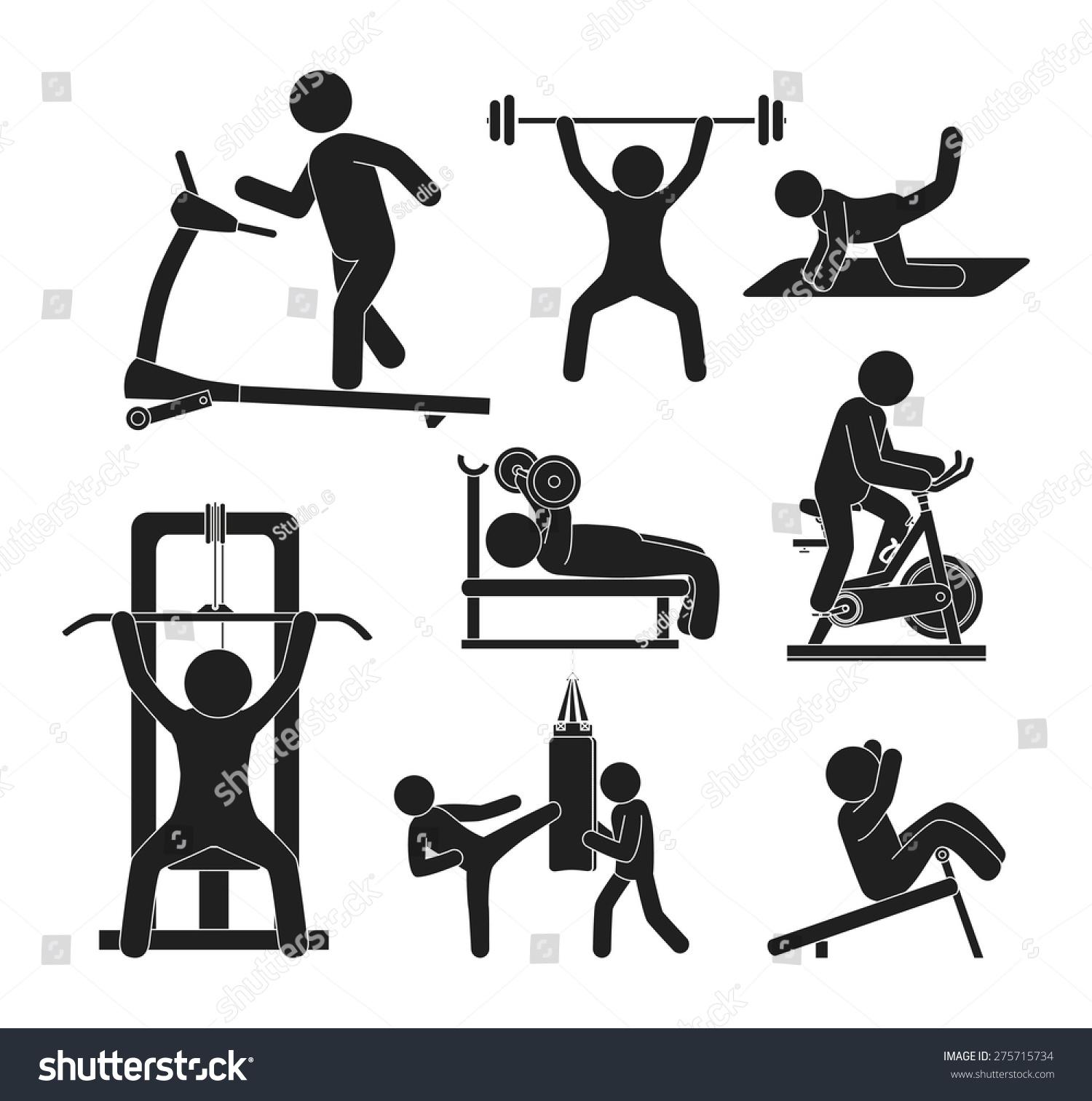 Fitness Design Over White Background Vector Stock Vector 275715734 ... for Physical Fitness Design  186ref