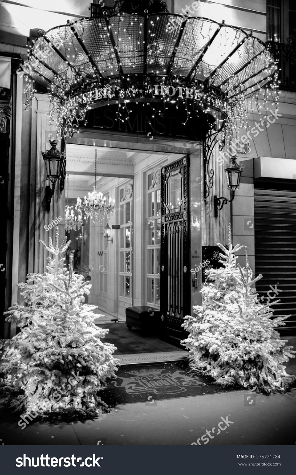 Paris Dec 8 Entrance Westminster Hotel Stock Photo 275721284 ...