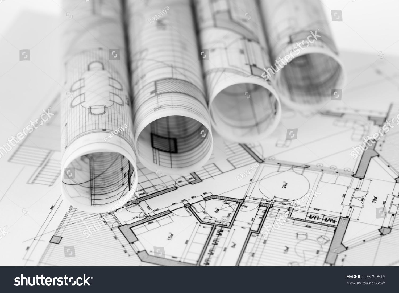 Rolls architecture blueprints house plans stock photo 275799518 rolls architecture blueprints house plans stock photo 275799518 shutterstock malvernweather Images