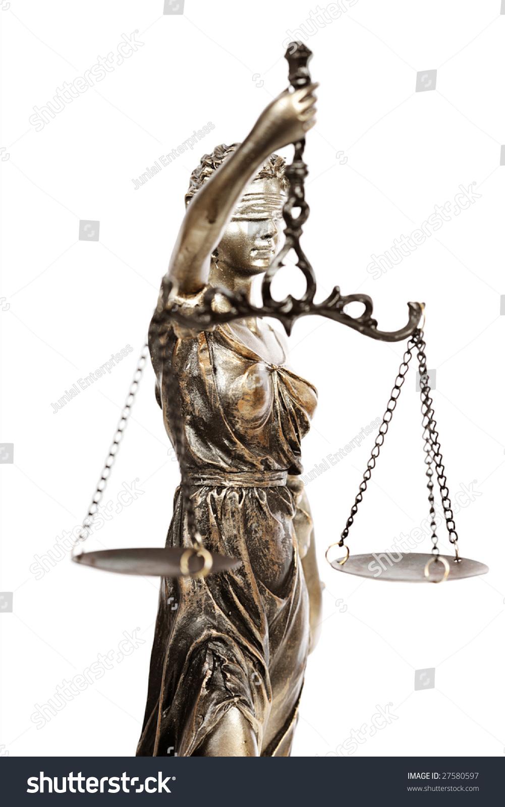 Blind lady justice holding her balance stock photo 27580597 blind lady justice holding up her balance scale buycottarizona