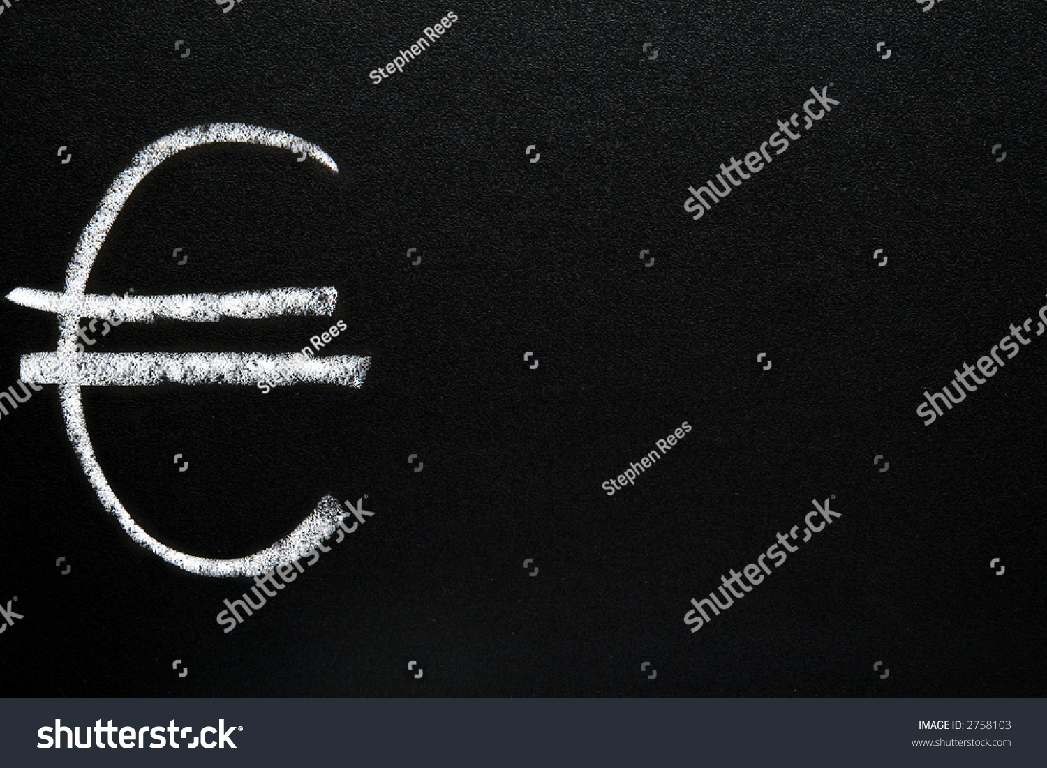 Euro currency symbol written on blackboard stock illustration the euro currency symbol written on a blackboard with space for text buycottarizona Choice Image