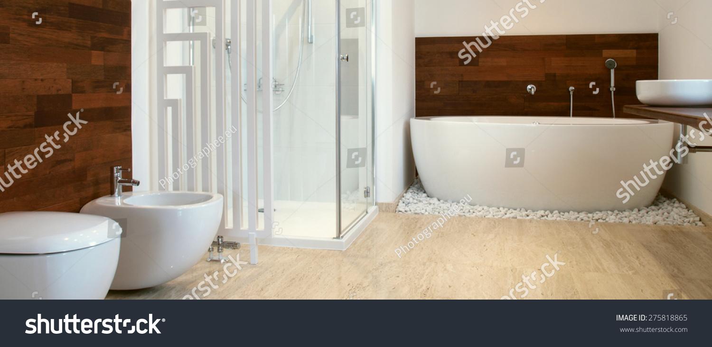 Modern Bathroom African Style Bathroom Exotic Stock Photo (Royalty ...