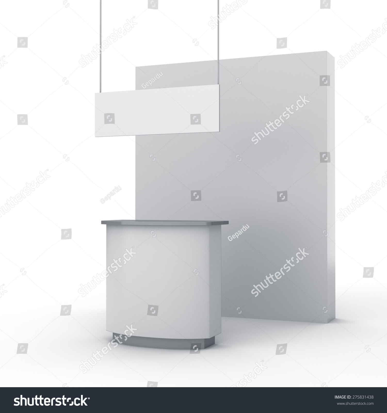 Simple Exhibition Stall : Royalty free stock illustration of blank simple stall exhibition
