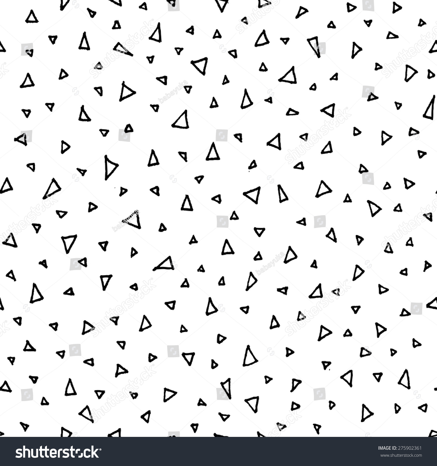Vector Seamless Pattern Black Hand Drawn Stock Vector (Royalty Free