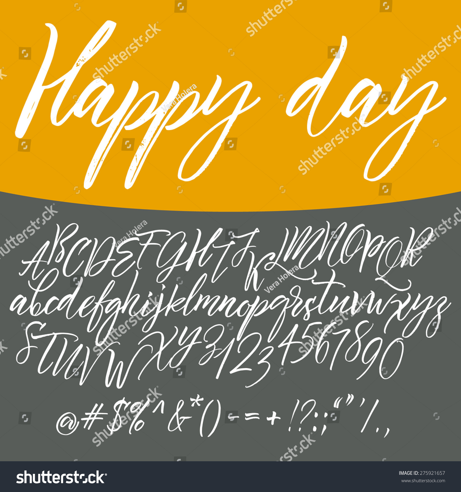 Alphabet letters lowercase uppercase Vector alphabet Hand drawn letters Letters of the alphabet written with a paint brush