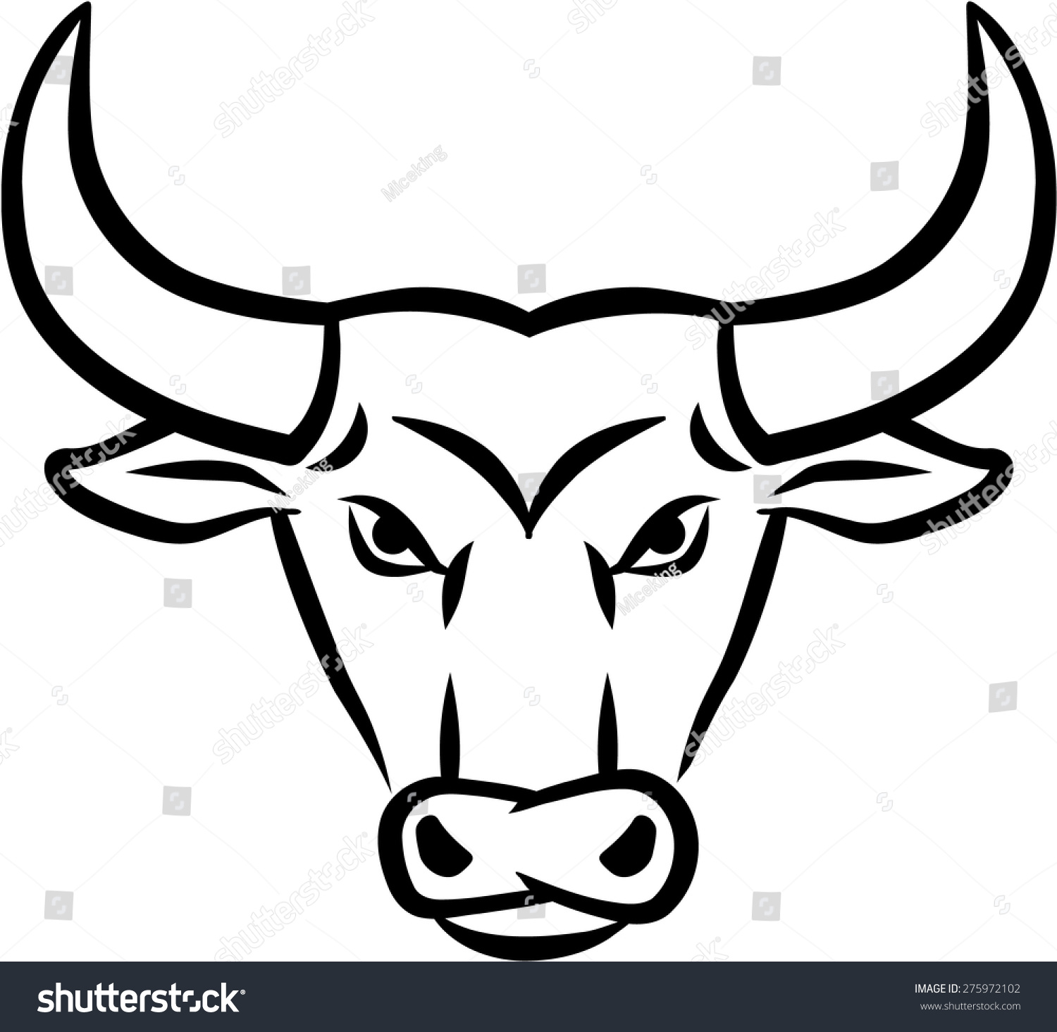Angry Bull Head Stock Vector 275972102