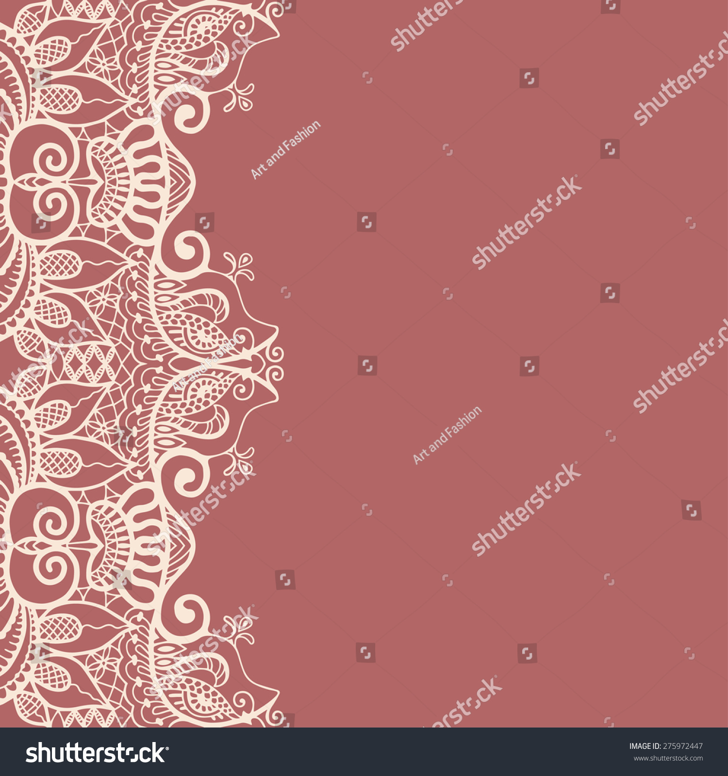 Abstract Lace Ornament Background Place Your Stock Vector 275972447 ...