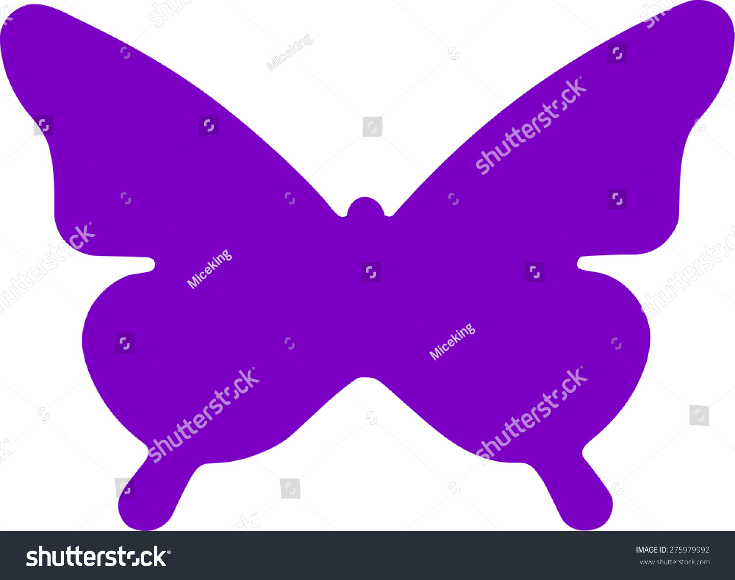 Butterfly symbol stock vector 275979992 shutterstock butterfly symbol biocorpaavc Image collections