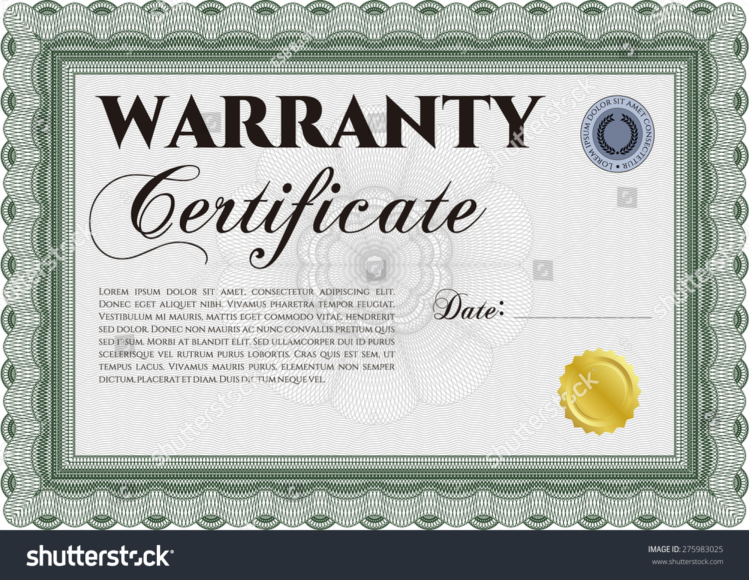 Sample Warranty Certificate Template Perfect Style Stock