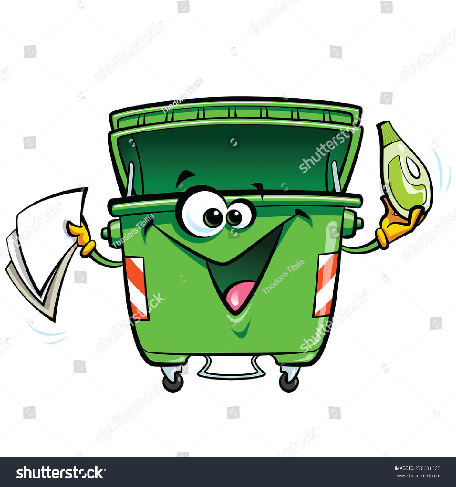 cartoon image of how to keep environment clean
