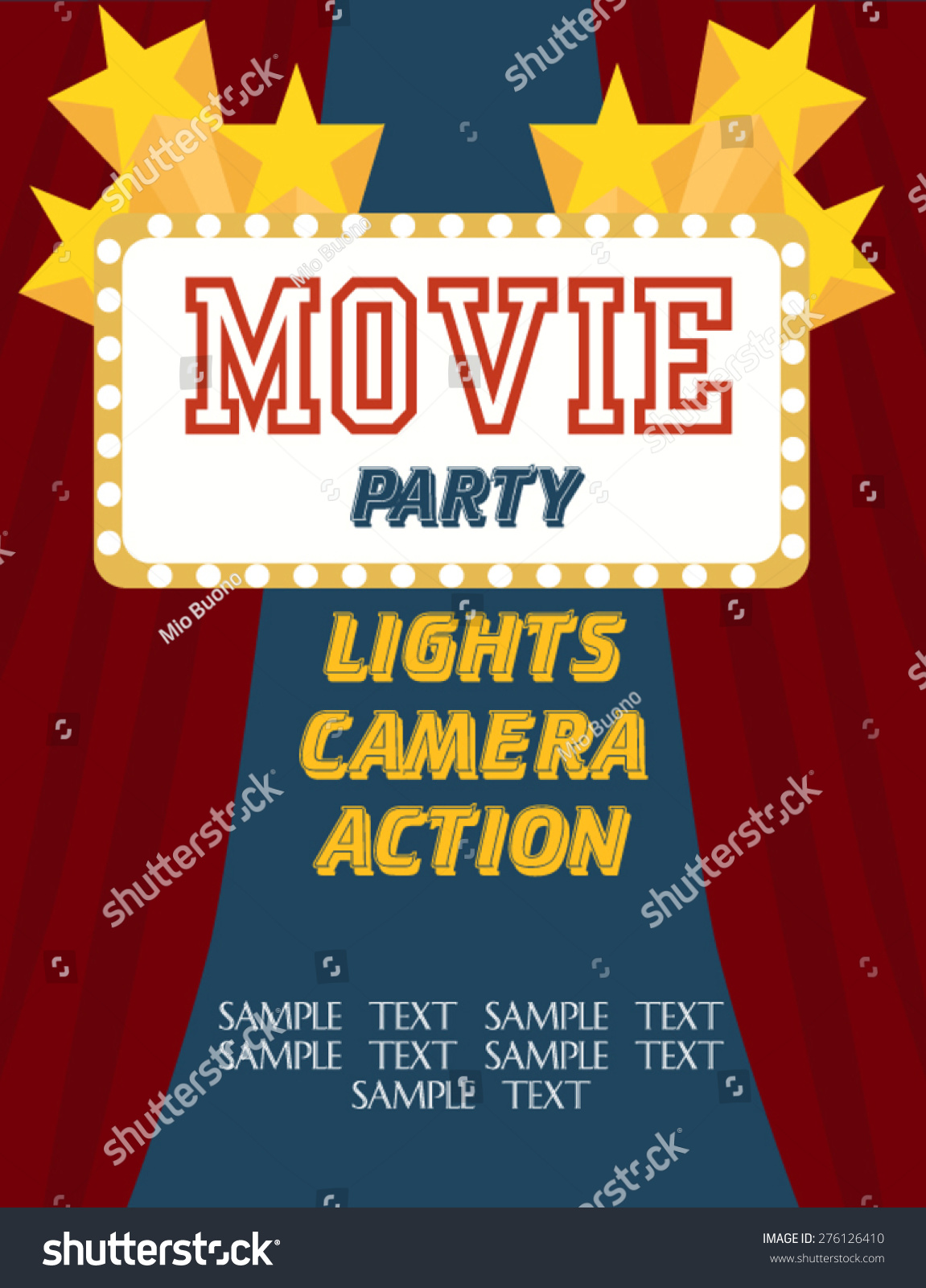 movie birthday party invitation - Movie Birthday Party Invitations