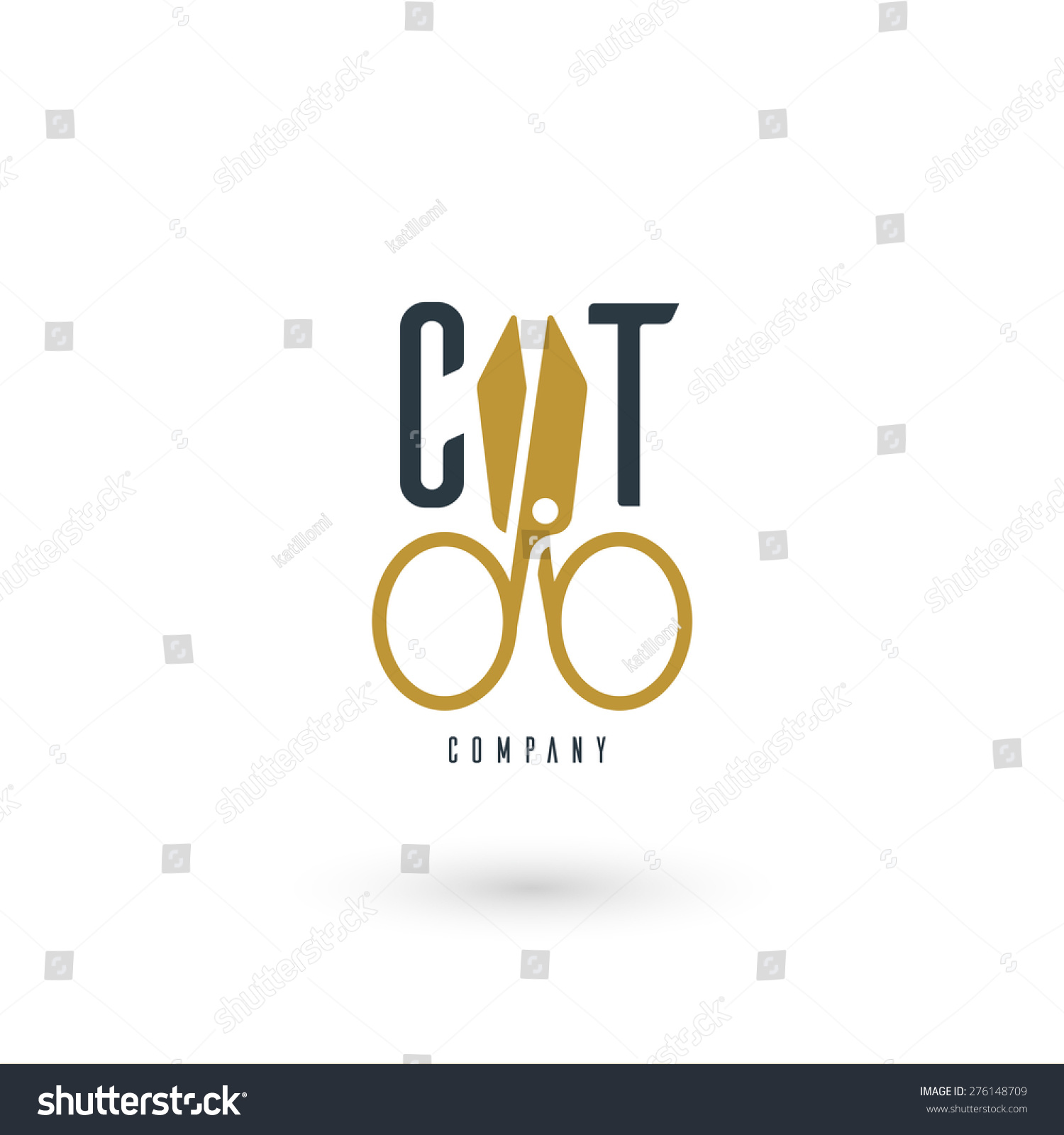 Vector graphic illustration scissors sample text stock vector vector graphic illustration of a scissors with sample text for your company biocorpaavc