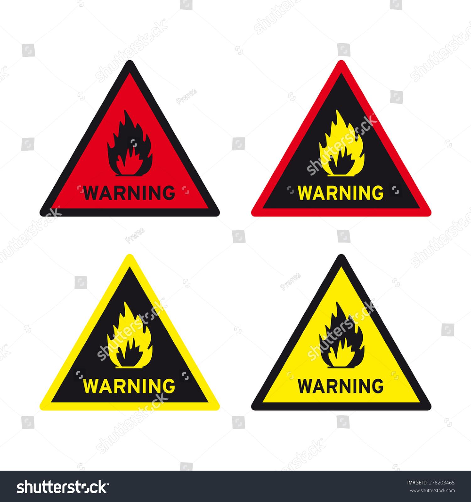 Flammable sign vector set warning stock vector 276203465 flammable sign vector set warning buycottarizona