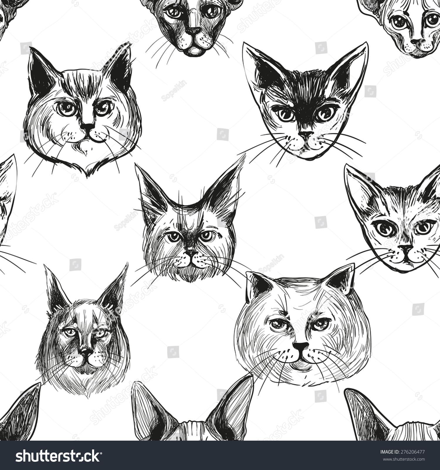 stock-vector-cat-breed-face-cartoon-flat-icon-design ...