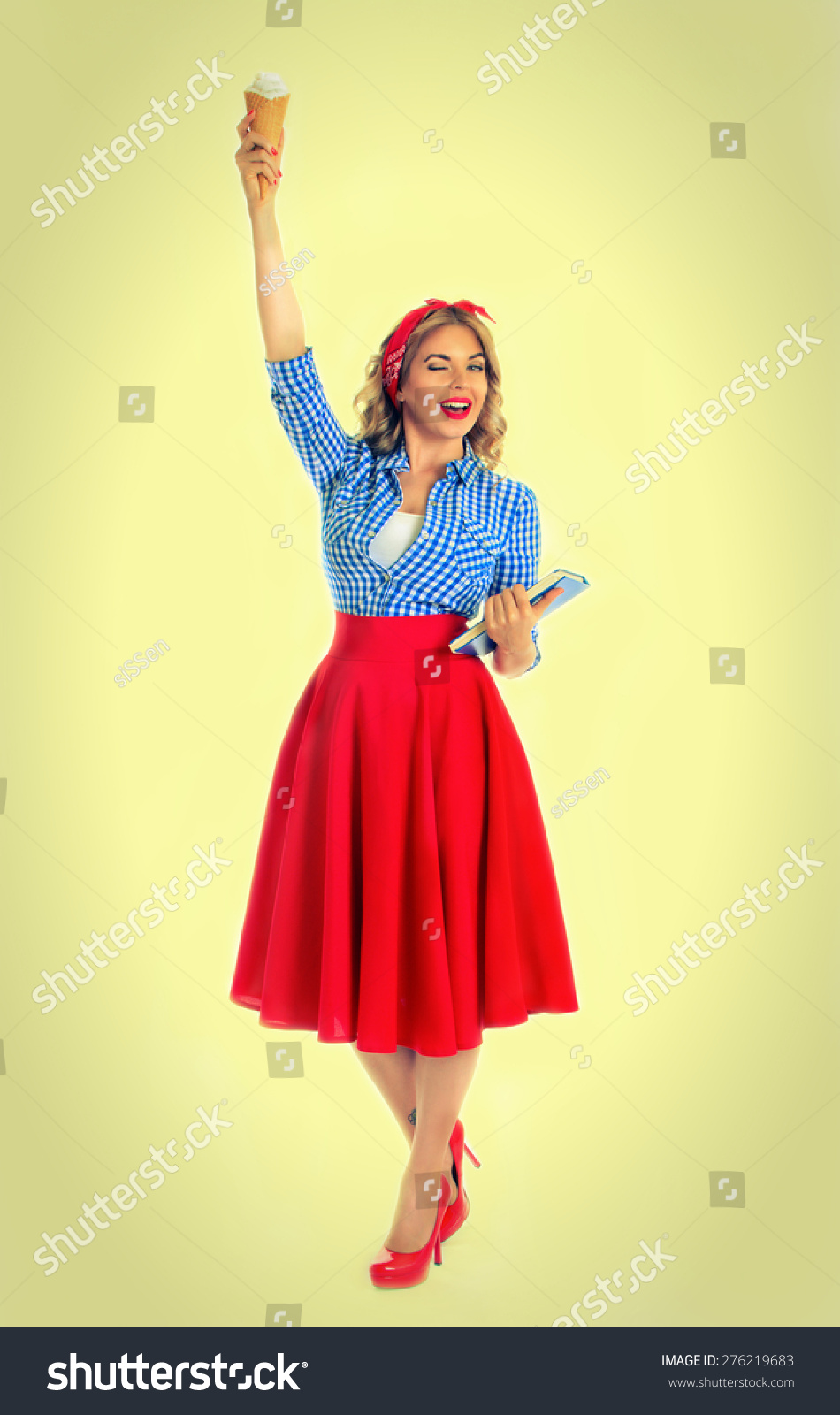blonde pose statue liberty on white stock photo 276219683 shutterstock. Black Bedroom Furniture Sets. Home Design Ideas