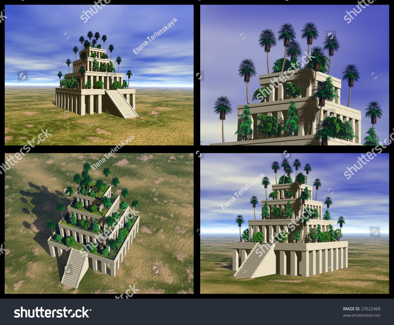 Hanging Gardens Babylon 3d Reconstructions Stock Illustration 27622468 Shutterstock