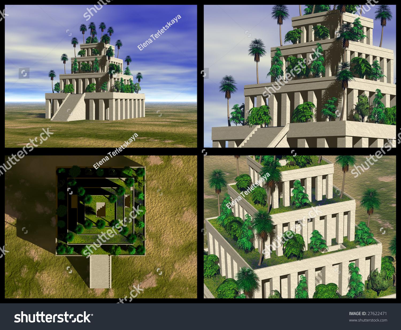 Hanging Gardens Babylon 3d Reconstructions Stock Illustration 27622471 Shutterstock