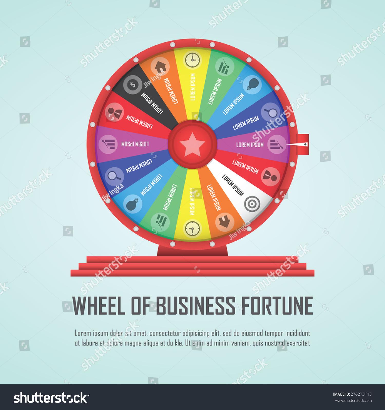 Wheel Fortune Infographic Design Element Vector Stock ...