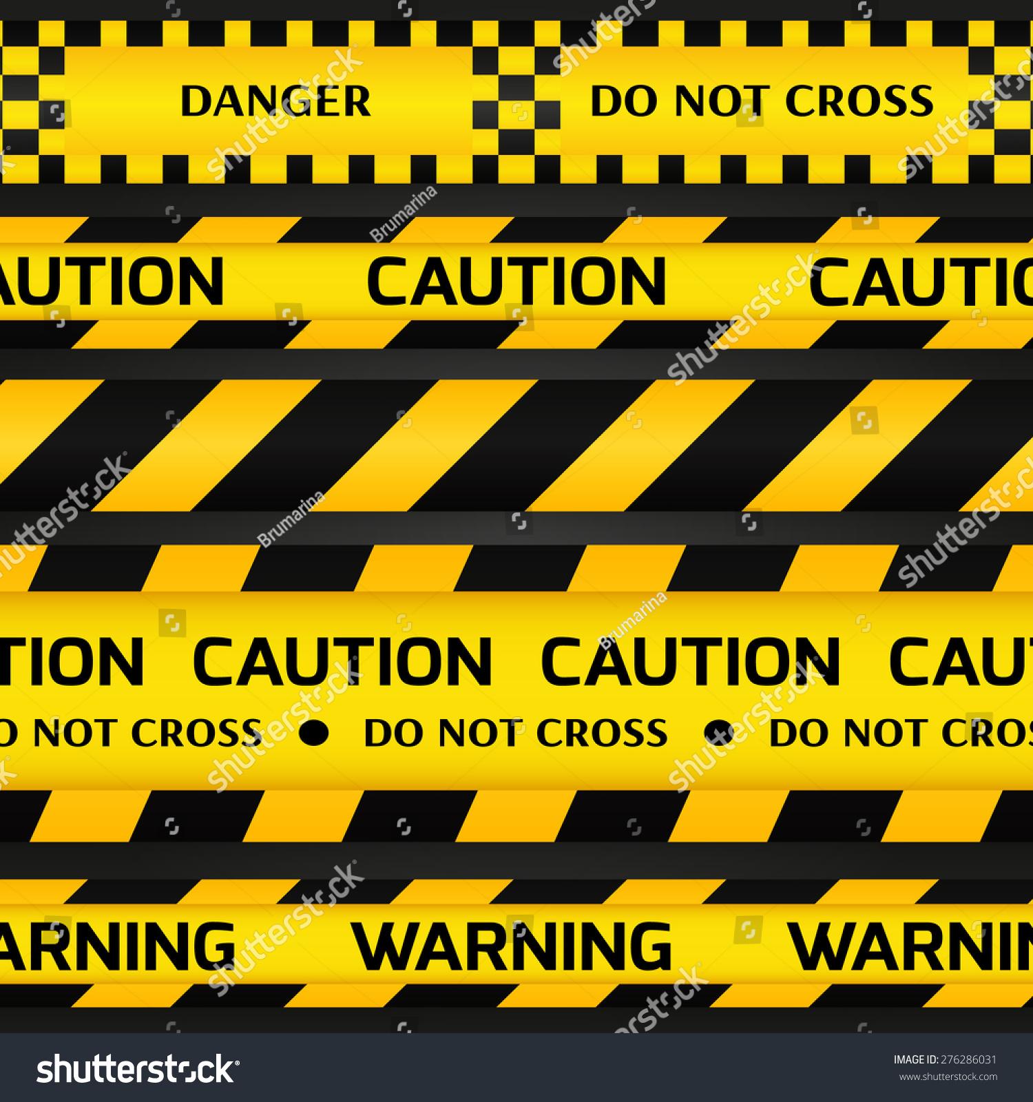 text warning black background - photo #10
