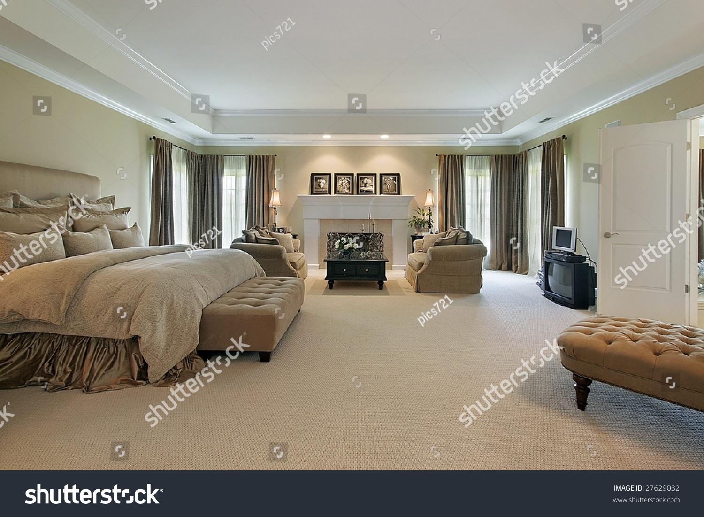 Large Master Bedroom Large Master Bedroom Stock Photo 27629032 Shutterstock