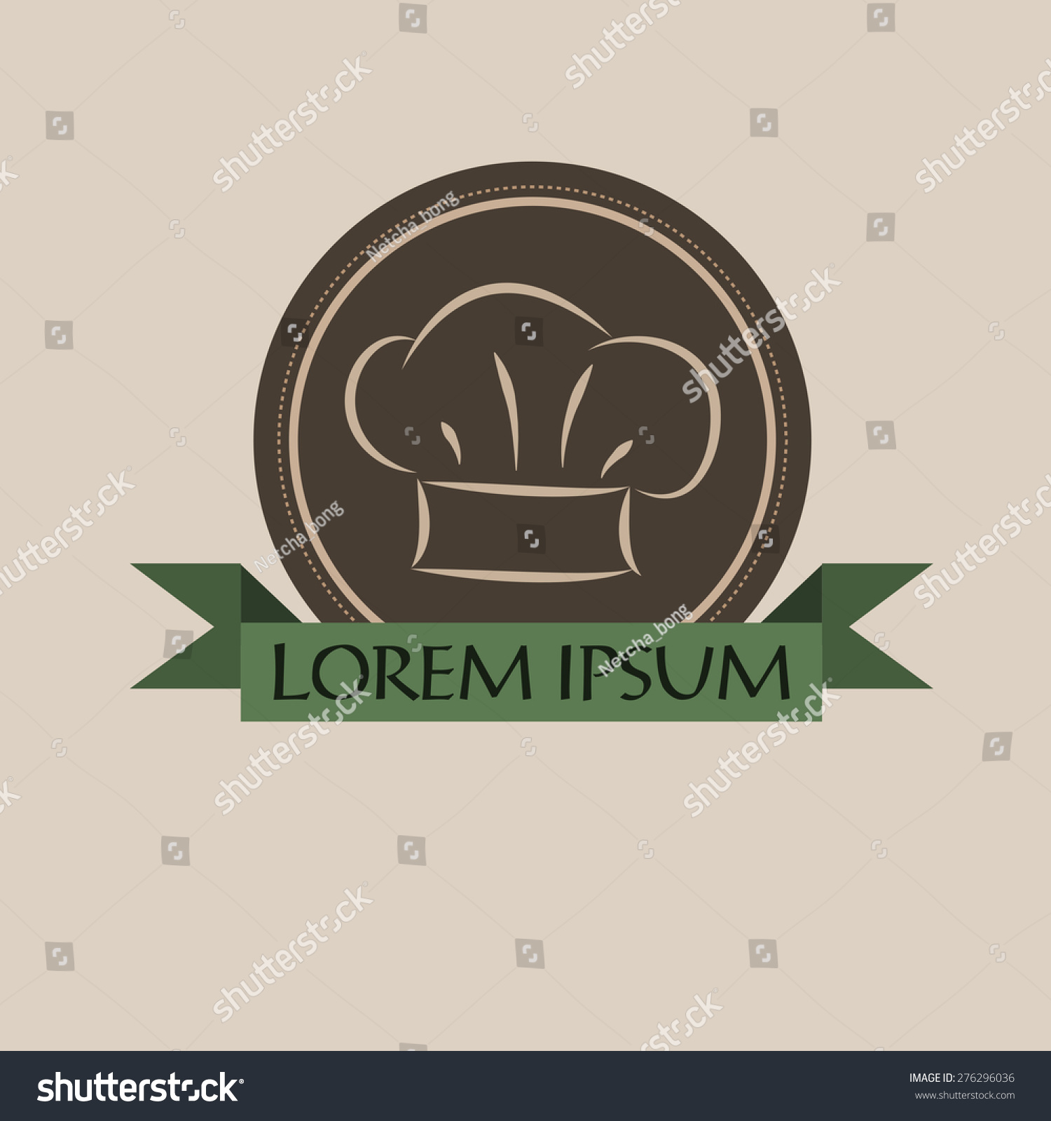71382c400c310 Chef Hat Label Logo Restaurant Menu Stock Vector (Royalty Free ...