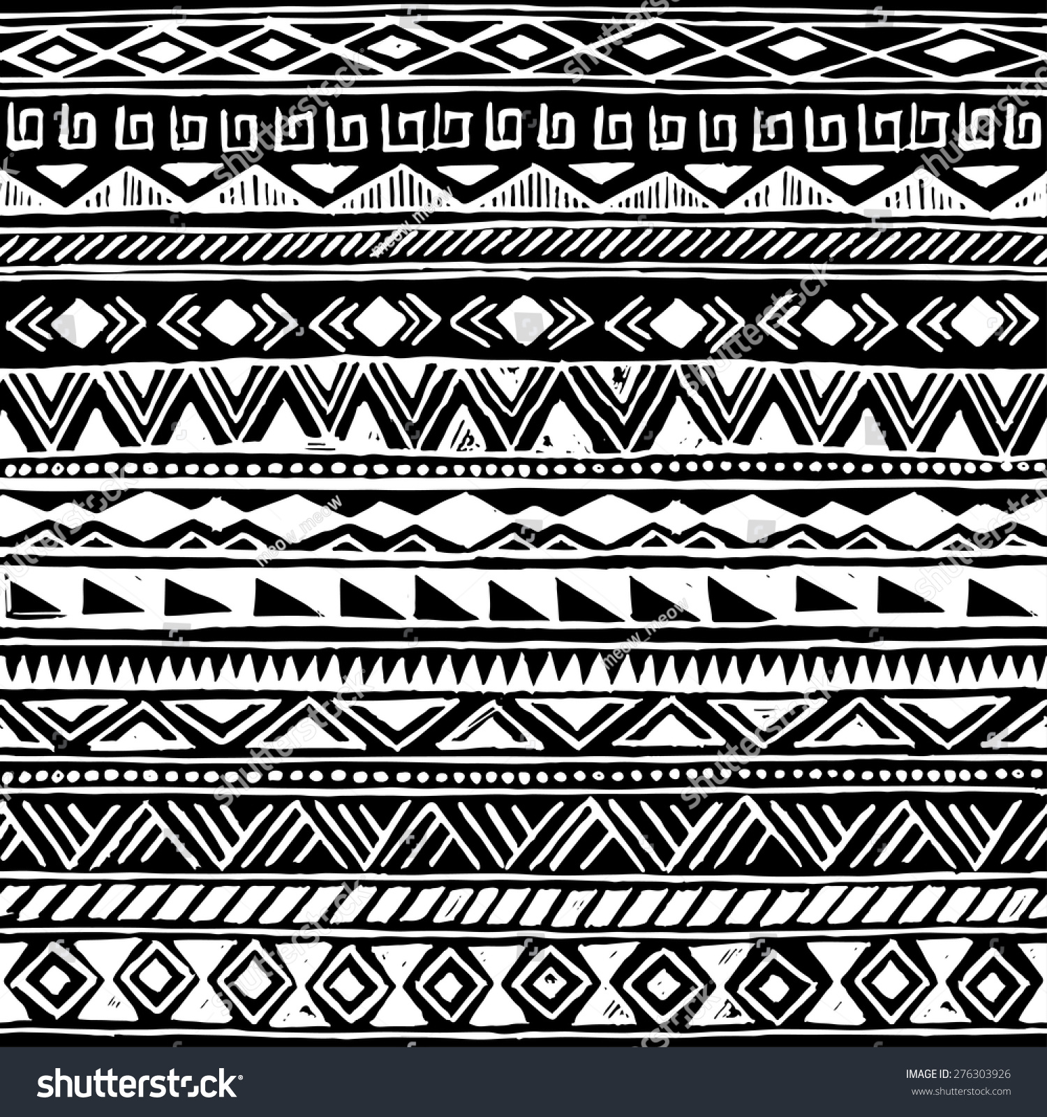 Download image ... Tribal Print Pattern Black And White