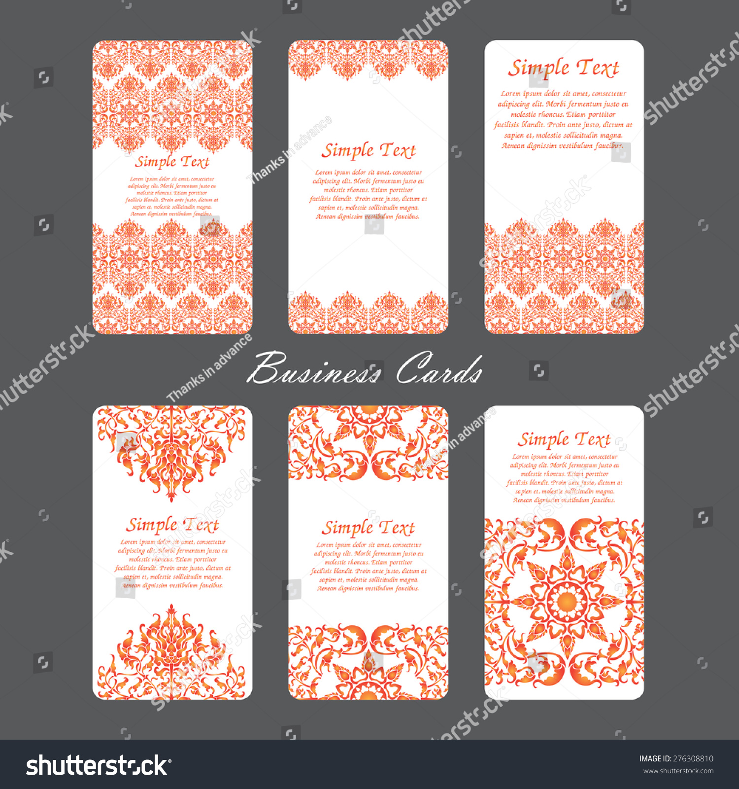 business card abstract style vector stock vector