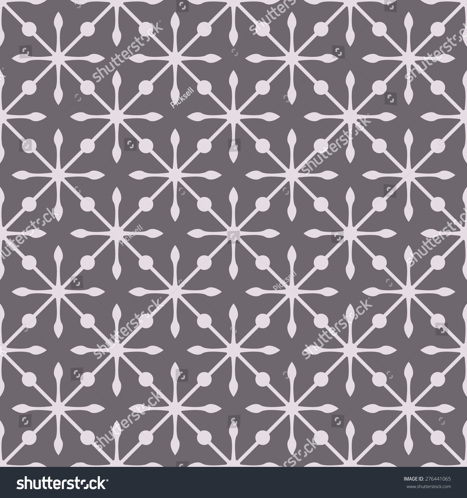 Black And White Victorian Pattern Vector