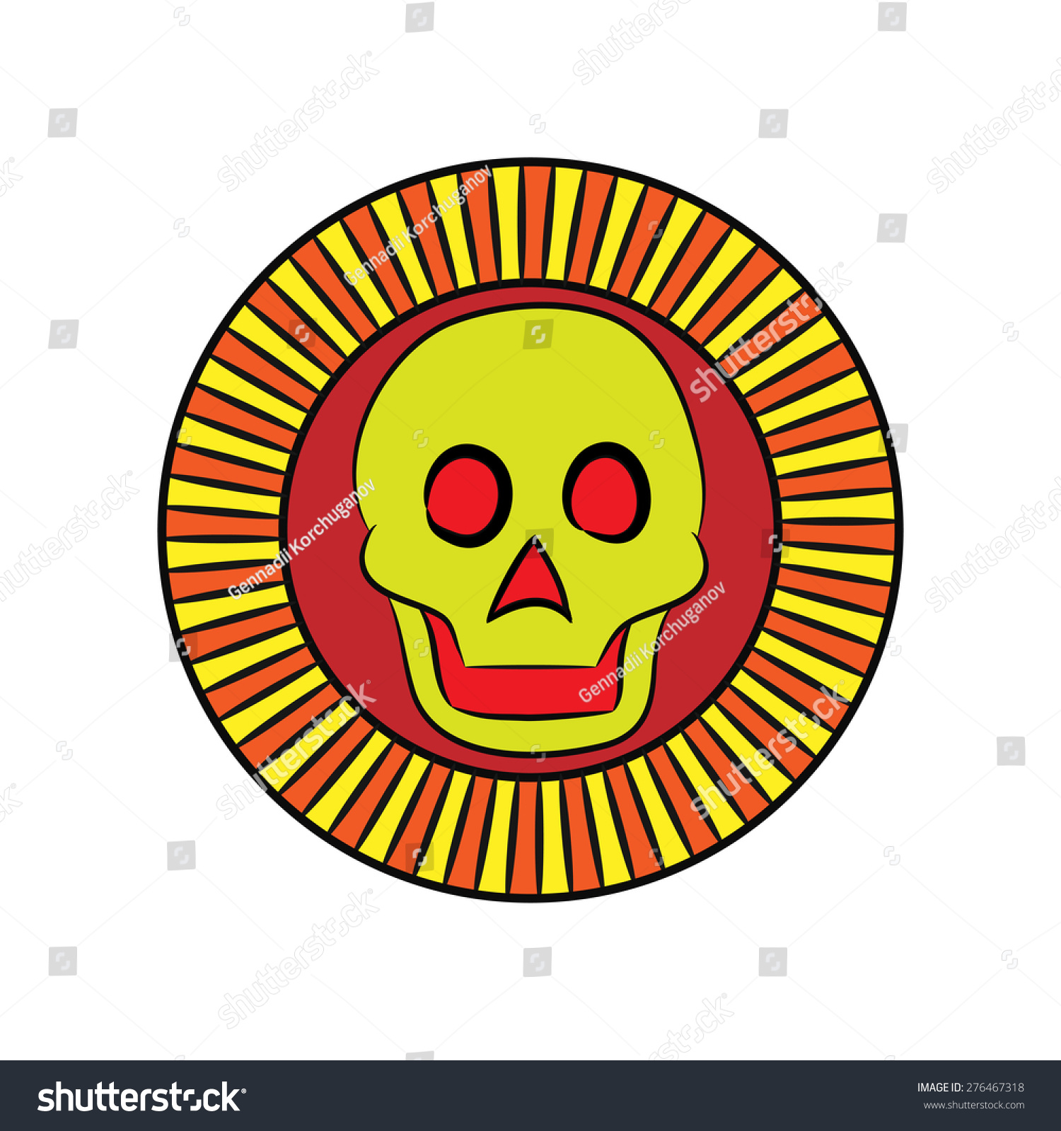 Symbol ancient aztecs sun death ancient stock vector 276467318 the symbol of the ancient aztecs the sun of death from ancient mexico biocorpaavc Images