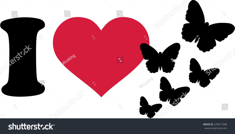 Love butterflies symbol stock vector 276471398 shutterstock i love butterflies symbol biocorpaavc Image collections