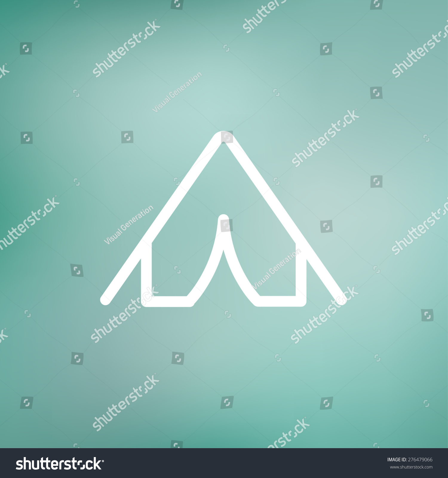 Tent icon thin line for web and mobile modern minimalistic flat design. Vector white : modern tent design - memphite.com