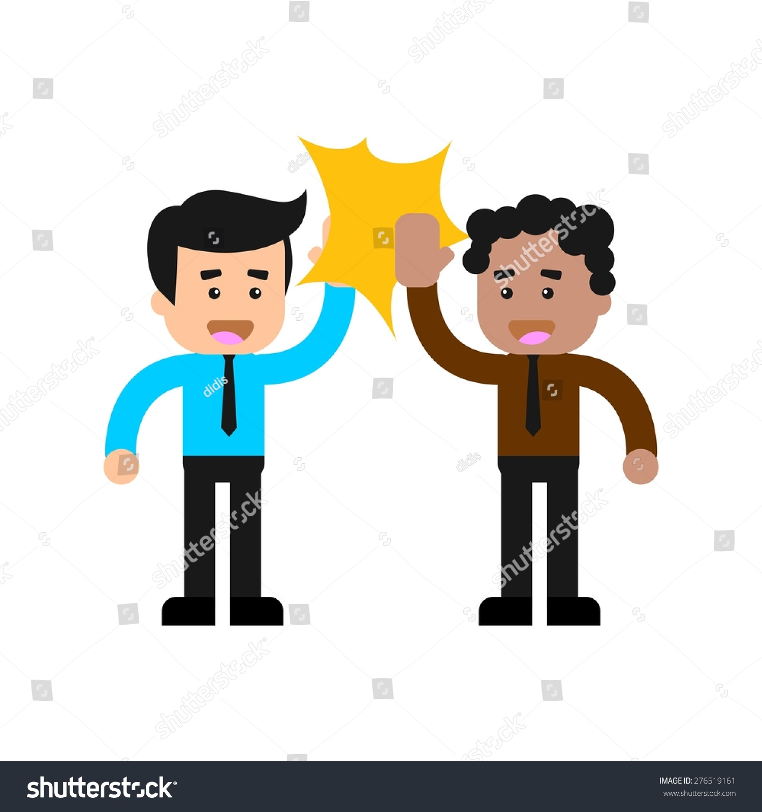 Business Man Doing High Five Colleagues Stock Vector 276519161 ...